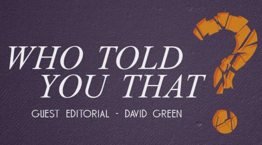 GUEST EDITORIAL: David Green